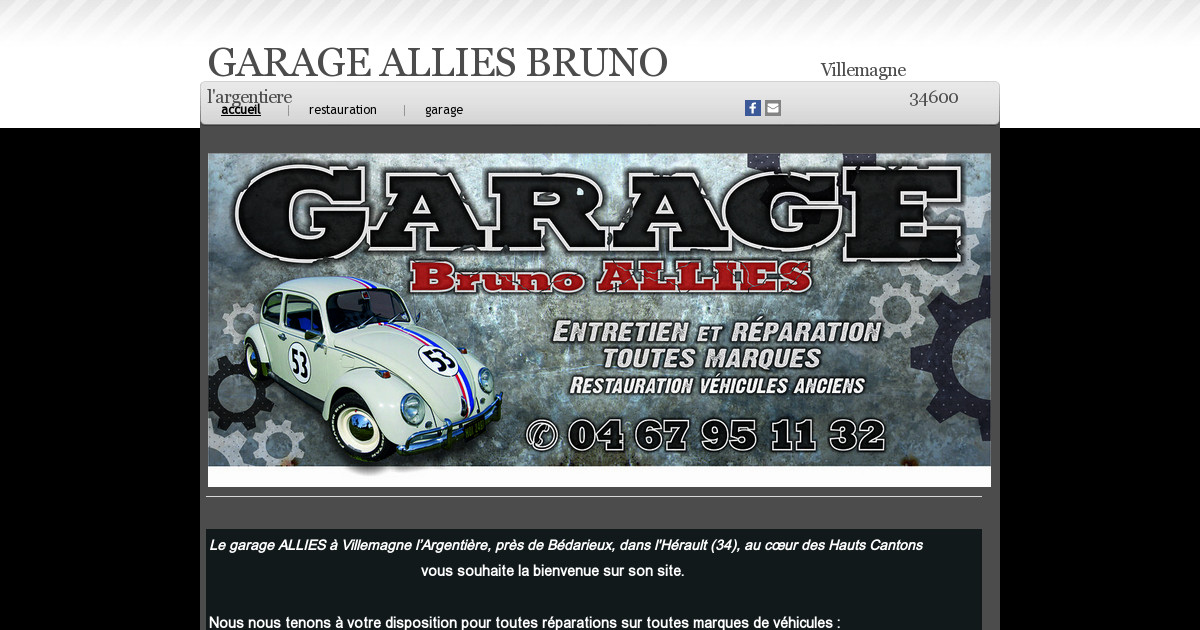 garage allies bruno accueil. Black Bedroom Furniture Sets. Home Design Ideas